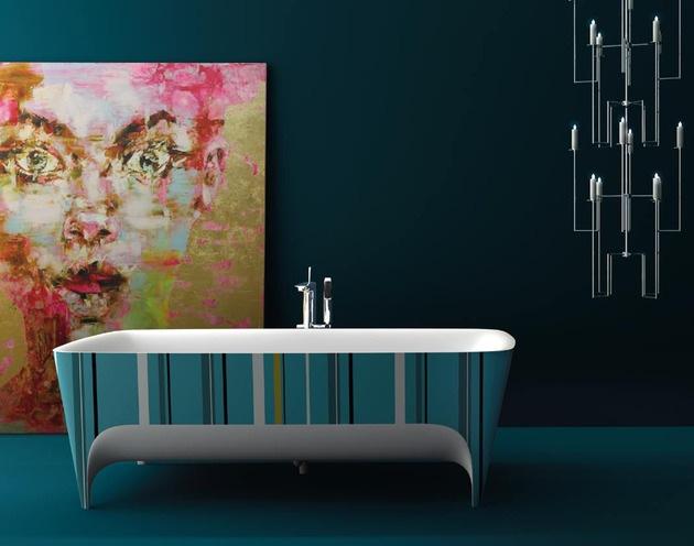 2045 dizayn 1 Ванны Accademia с поразительно красивыми формами от дизайнера Teuco