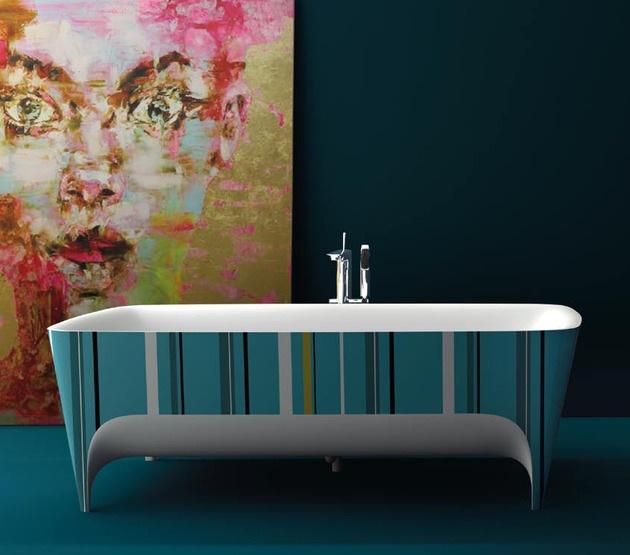2045 dizayn 3 Ванны Accademia с поразительно красивыми формами от дизайнера Teuco