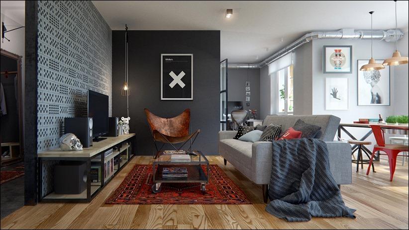 2502 dizayn interera 01 Эклектика квартиры с открытой планировкой