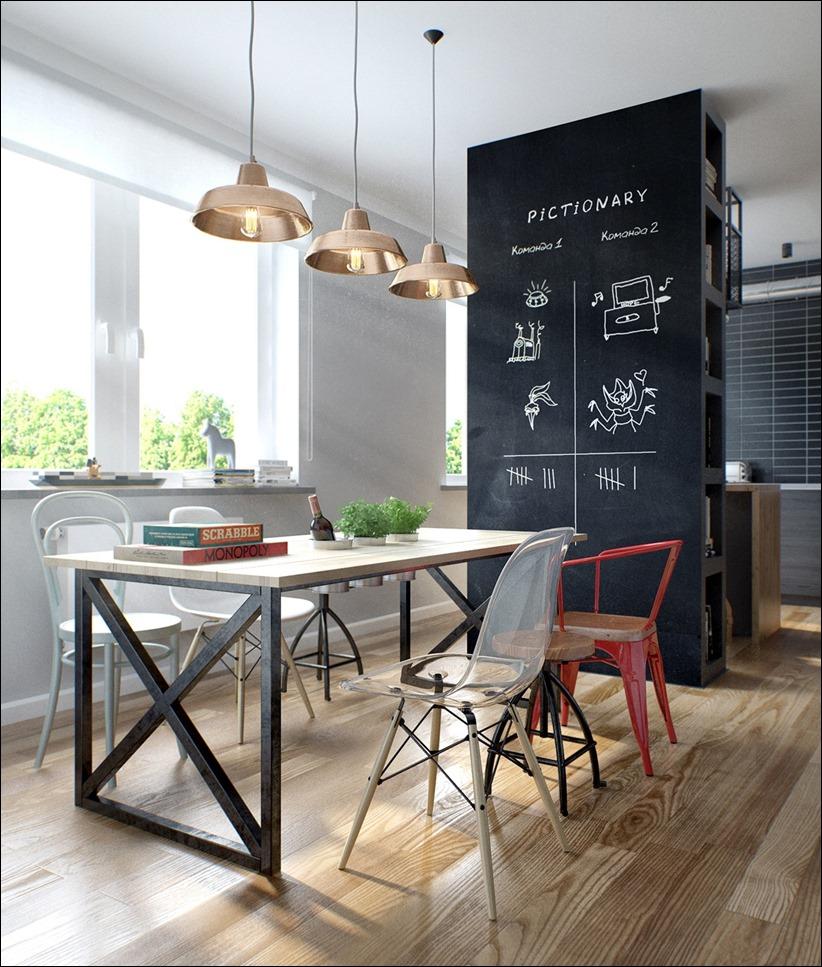 2502 dizayn interera 10 Эклектика квартиры с открытой планировкой