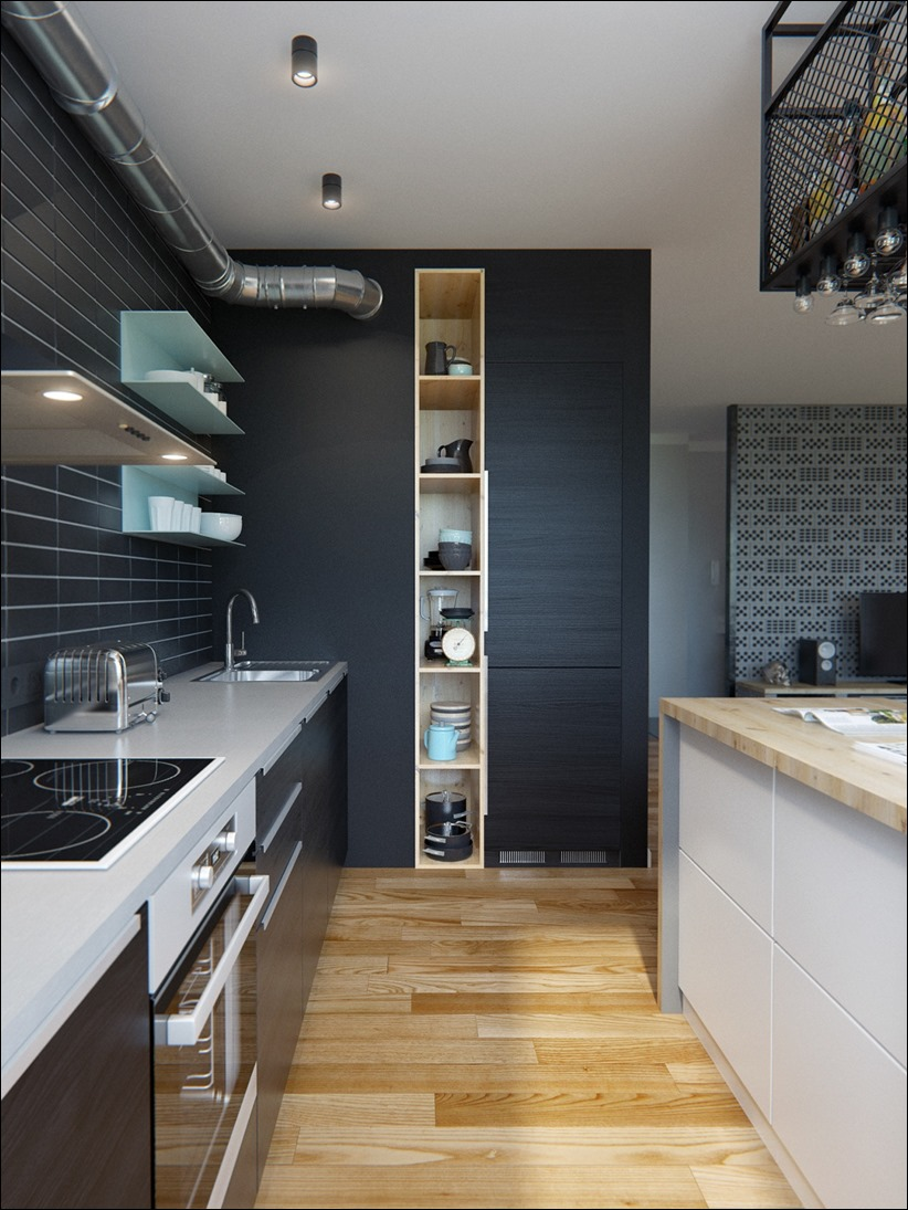 2502 dizayn interera 13 Эклектика квартиры с открытой планировкой