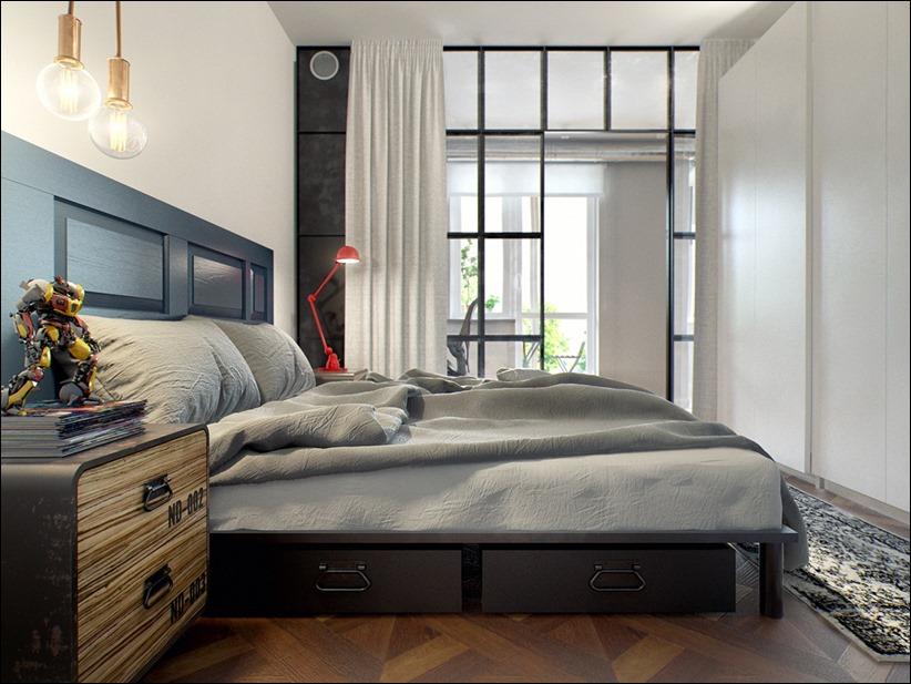 2502 dizayn interera 14 Эклектика квартиры с открытой планировкой