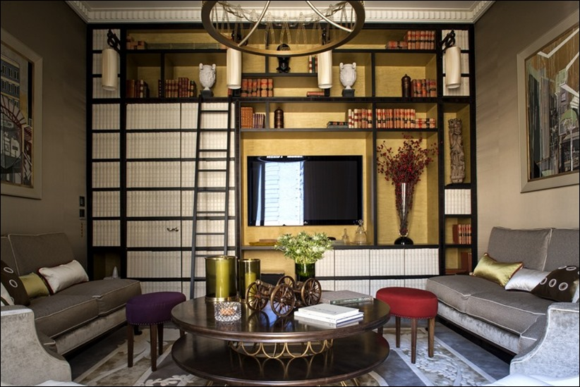 2569 dizayn interera 01 Утонченная роскошь квартира на Avenue Montaigne в Париже