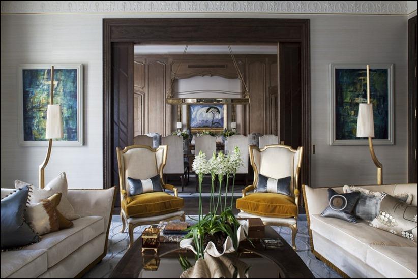 2569 dizayn interera 03 Утонченная роскошь квартира на Avenue Montaigne в Париже