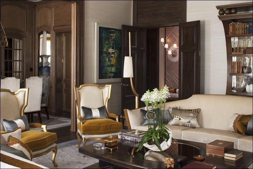 2569 dizayn interera 06 Утонченная роскошь квартира на Avenue Montaigne в Париже