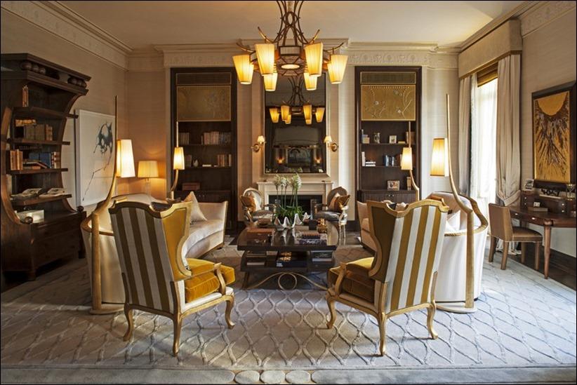 2569 dizayn interera 11 Утонченная роскошь квартира на Avenue Montaigne в Париже