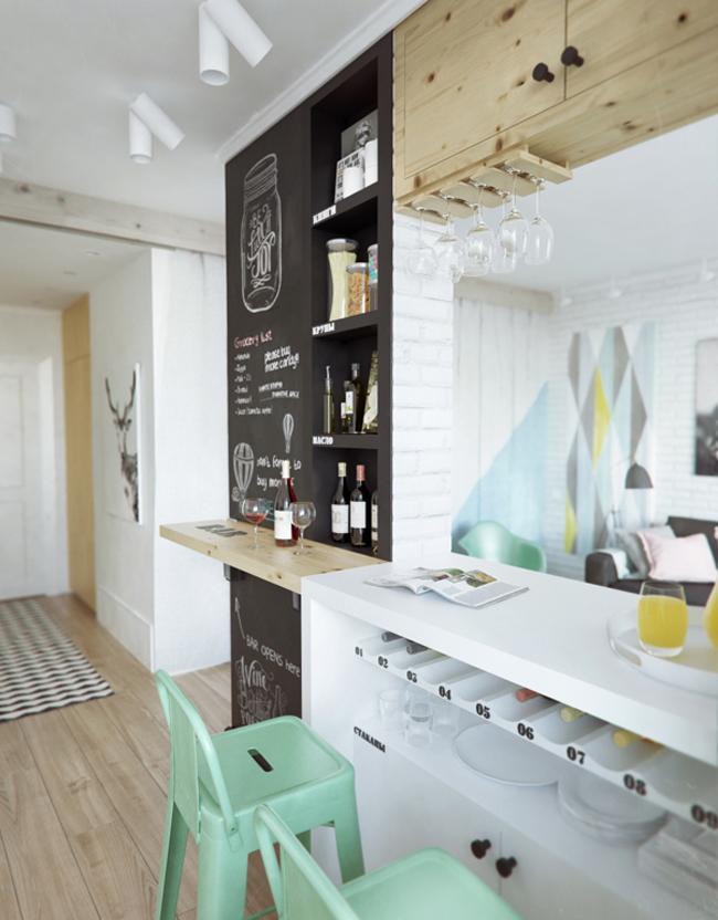 45 square meter apartment hqdesign kz 10 Интерьер квартиры площадью 45 кв.м. типовой планировки