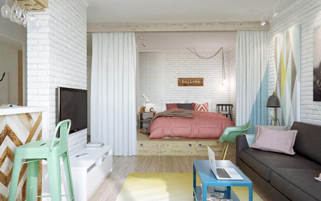 45 square meter apartment hqdesign kz 2 Интерьер квартиры площадью 45 кв.м. типовой планировки