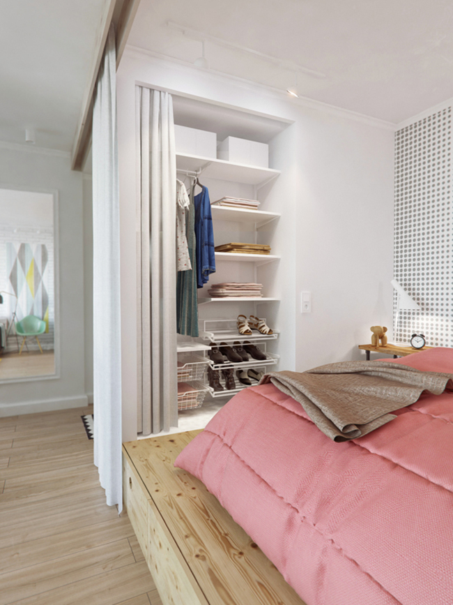 45 square meter apartment hqdesign kz 3 Интерьер квартиры площадью 45 кв.м. типовой планировки