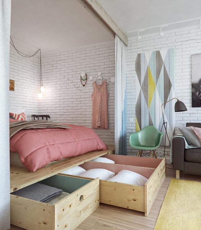45 square meter apartment hqdesign kz 5 Интерьер квартиры площадью 45 кв.м. типовой планировки
