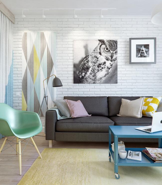 45 square meter apartment hqdesign kz 6 Интерьер квартиры площадью 45 кв.м. типовой планировки