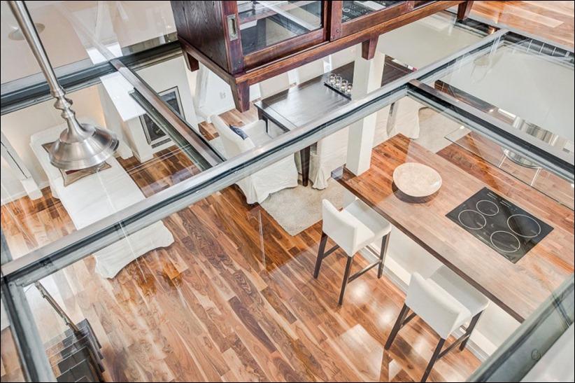 2793 dizayn interera 13 Эффектный Attic Duplex со стеклянным полом в Стокгольме