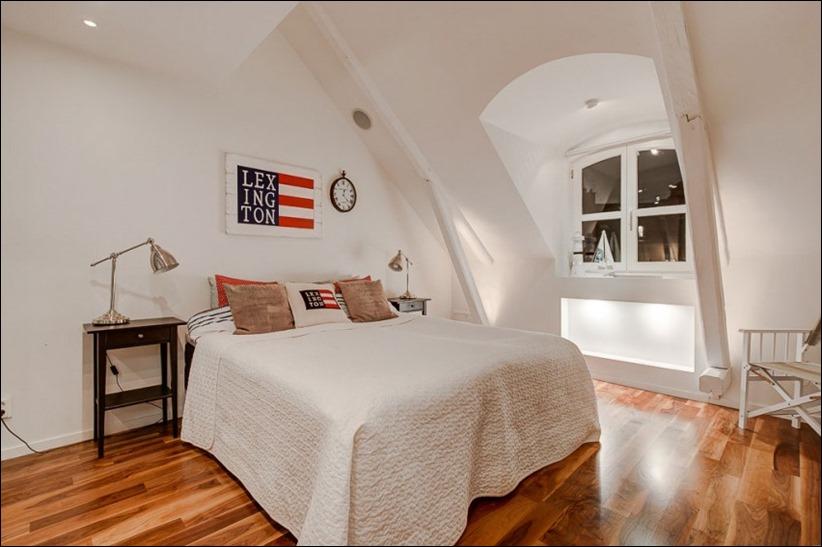 2793 dizayn interera 15 Эффектный Attic Duplex со стеклянным полом в Стокгольме