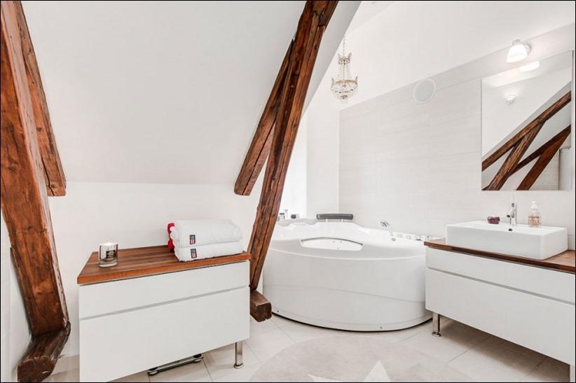 2793 dizayn interera 17 Эффектный Attic Duplex со стеклянным полом в Стокгольме
