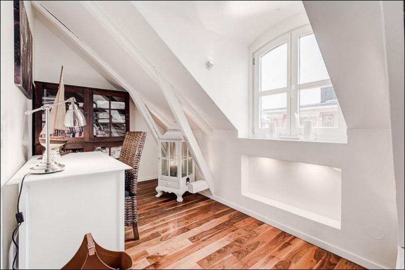 2793 dizayn interera 19 Эффектный Attic Duplex со стеклянным полом в Стокгольме
