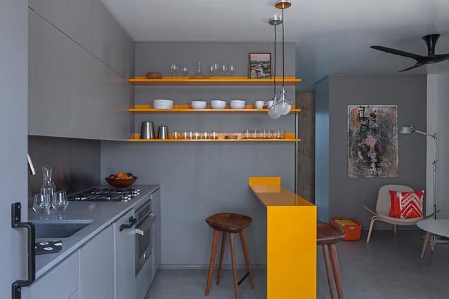 interer kvartiry v sero zheltyx tonax hqdesign kz 1 Дизайн квартиры в серо желтых тонах