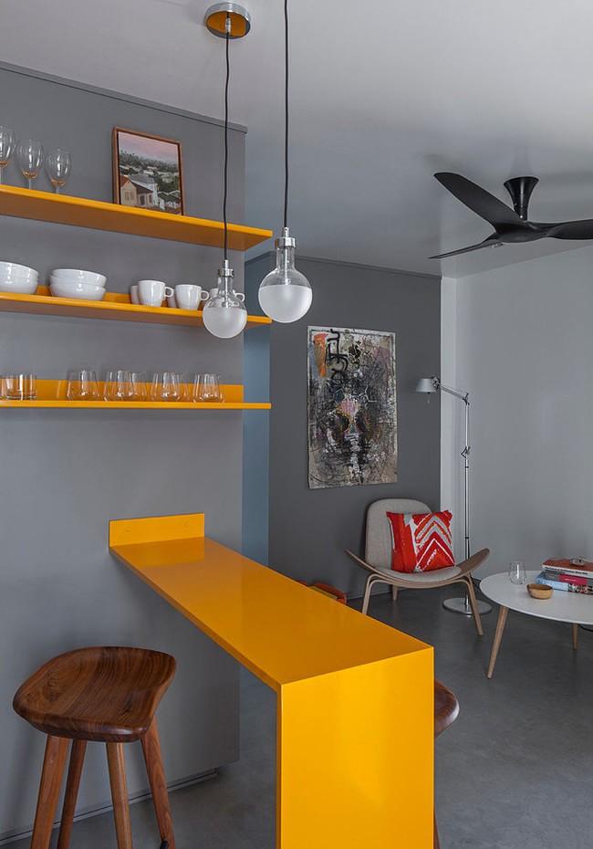 interer kvartiry v sero zheltyx tonax hqdesign kz 4 Дизайн квартиры в серо желтых тонах