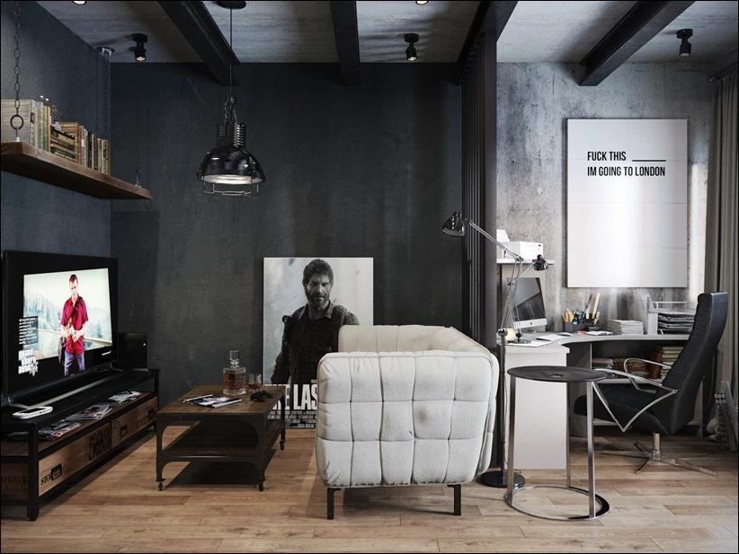 2875 dizayn interera 01 Дизайн концепция квартиры для редактора игрового журнала