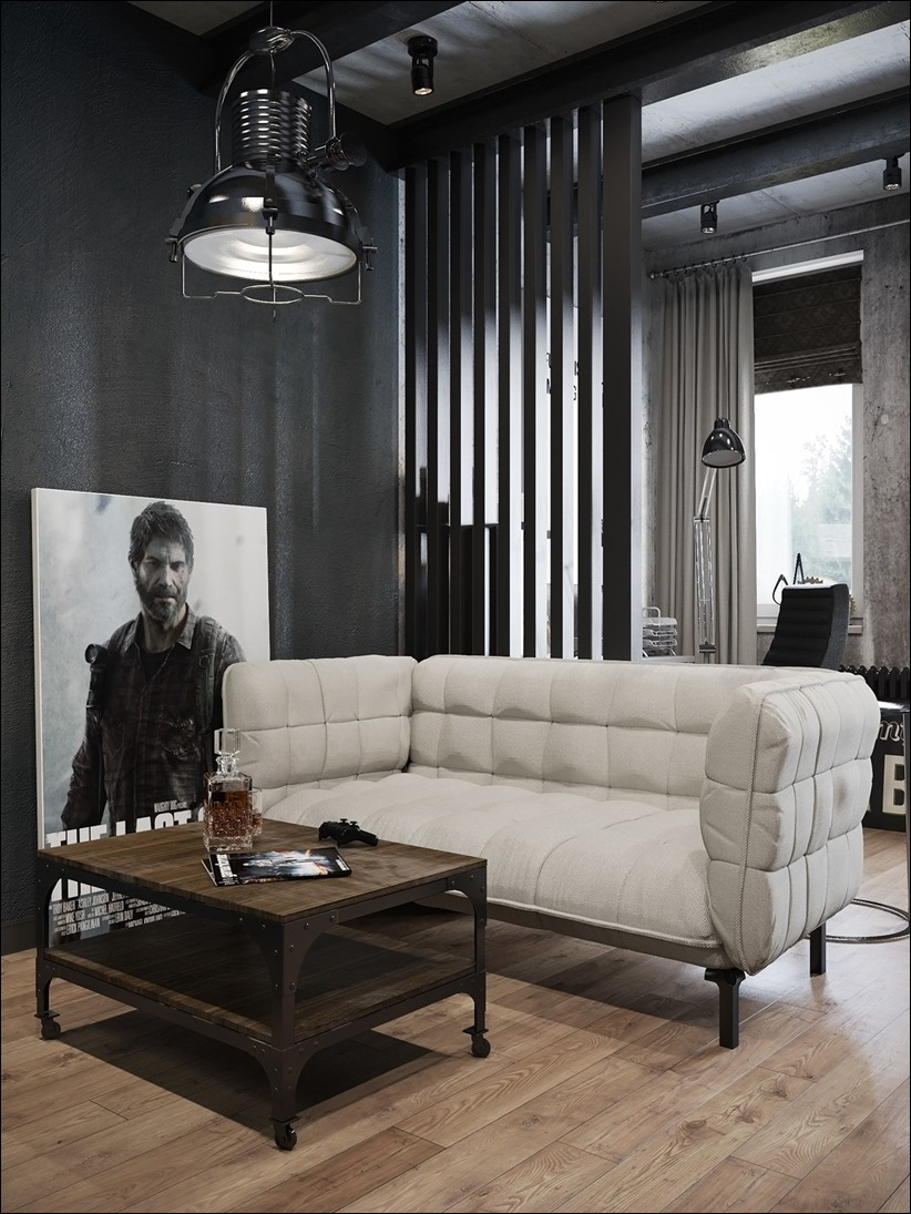 2875 dizayn interera 02 Дизайн концепция квартиры для редактора игрового журнала
