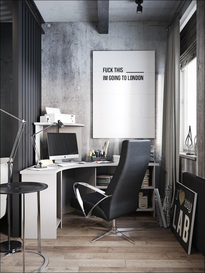 2875 dizayn interera 03 Дизайн концепция квартиры для редактора игрового журнала