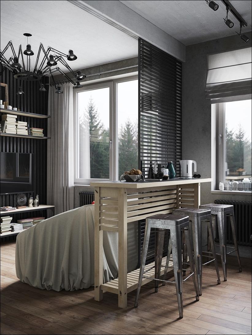 2875 dizayn interera 05 Дизайн концепция квартиры для редактора игрового журнала