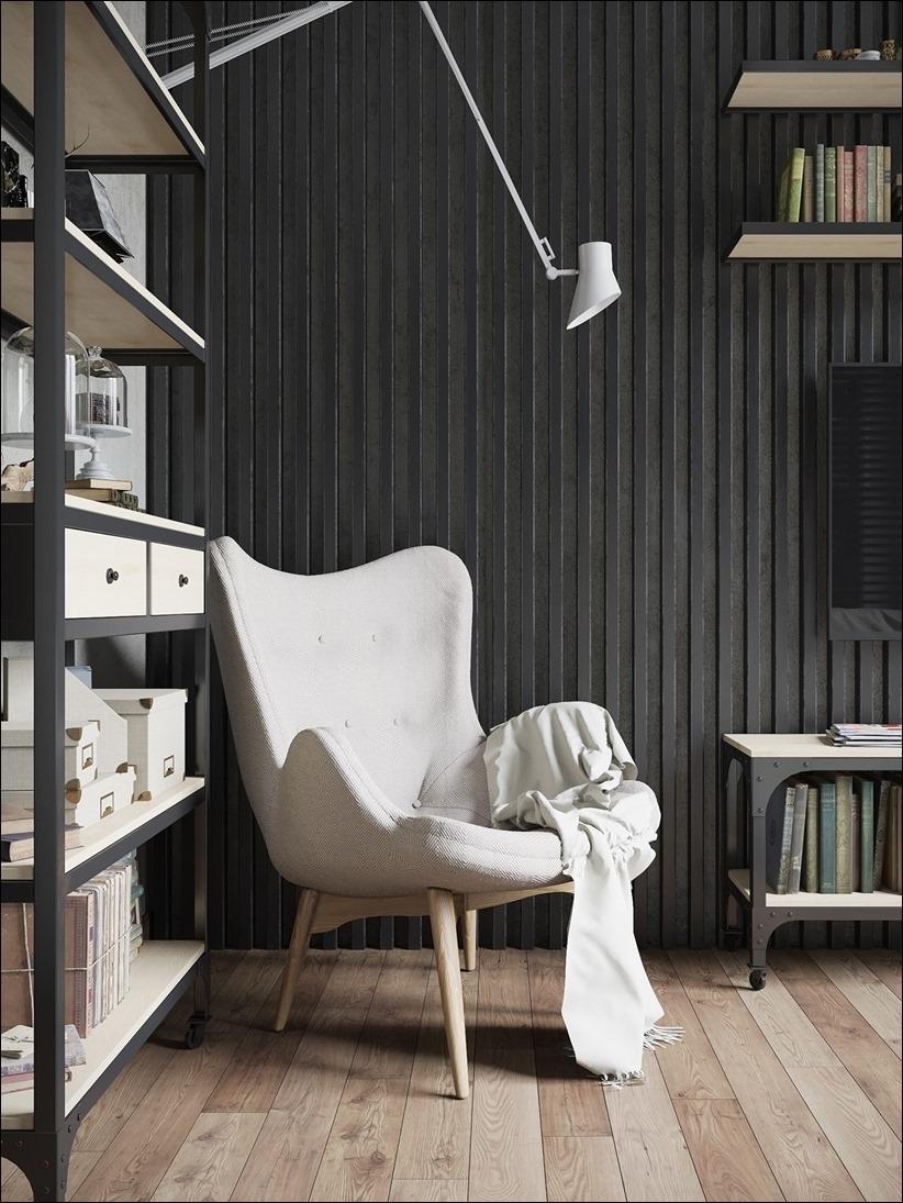 2875 dizayn interera 07 Дизайн концепция квартиры для редактора игрового журнала