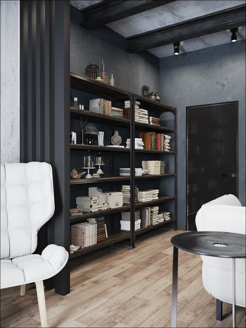 2875 dizayn interera 09 Дизайн концепция квартиры для редактора игрового журнала