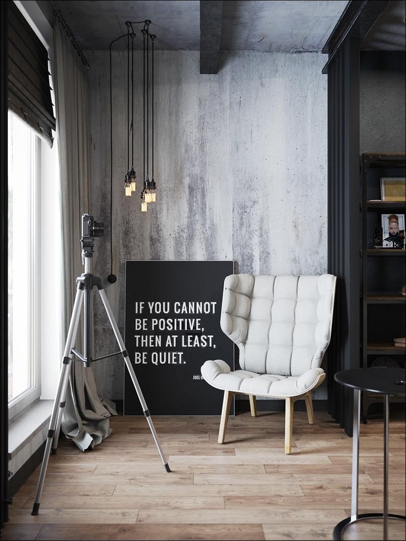 2875 dizayn interera 10 Дизайн концепция квартиры для редактора игрового журнала