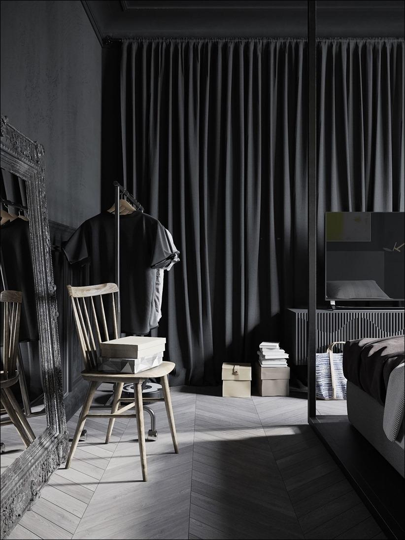 2875 dizayn interera 11 Дизайн концепция квартиры для редактора игрового журнала