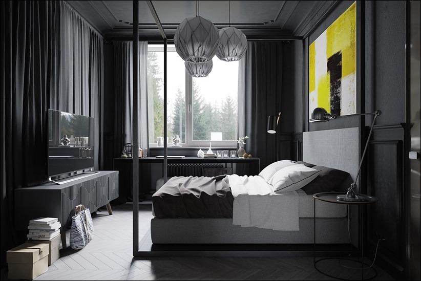 2875 dizayn interera 12 Дизайн концепция квартиры для редактора игрового журнала