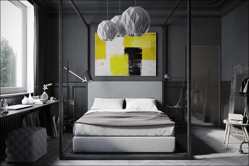 2875 dizayn interera 13 Дизайн концепция квартиры для редактора игрового журнала