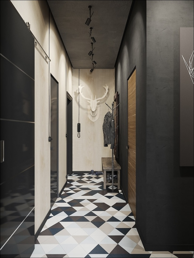 2875 dizayn interera 15 Дизайн концепция квартиры для редактора игрового журнала