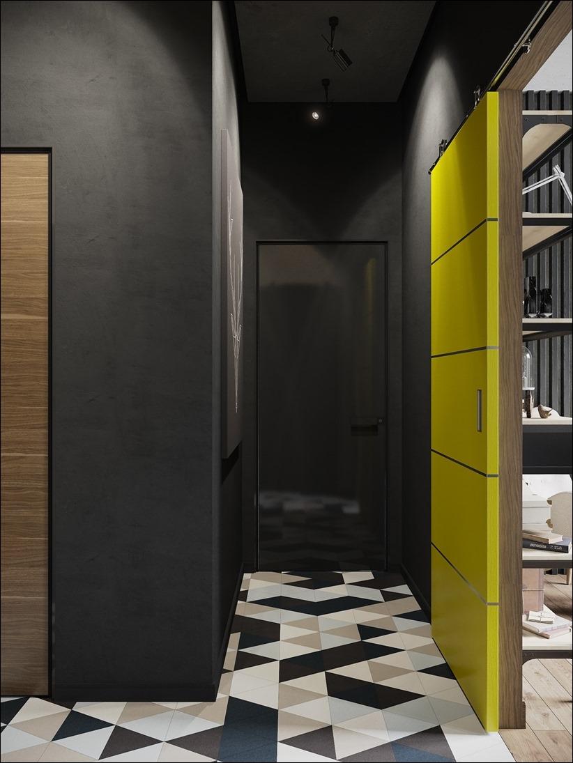 2875 dizayn interera 16 Дизайн концепция квартиры для редактора игрового журнала