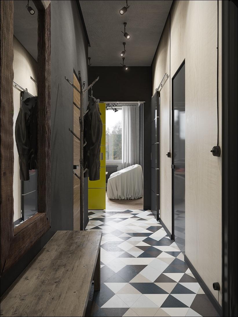 2875 dizayn interera 18 Дизайн концепция квартиры для редактора игрового журнала