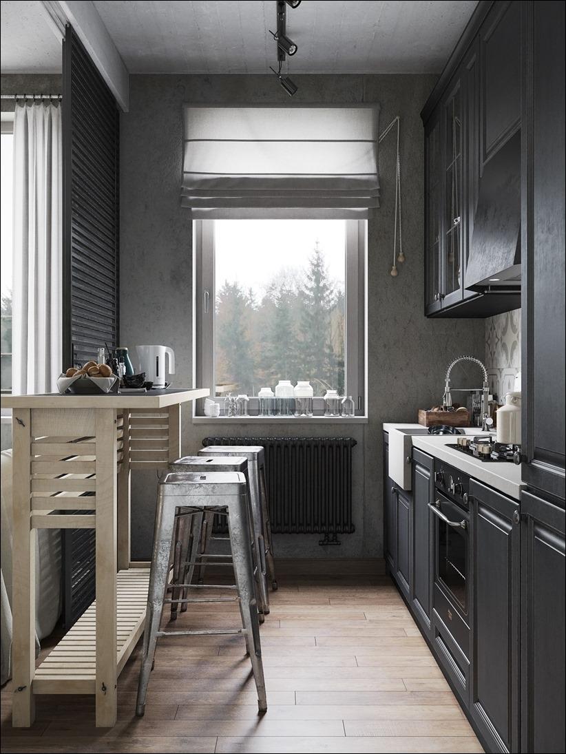 2875 dizayn interera 21 Дизайн концепция квартиры для редактора игрового журнала