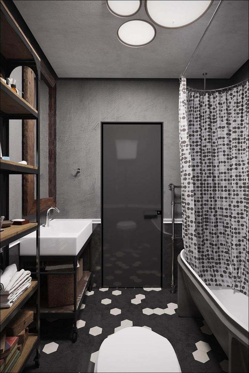 2875 dizayn interera 25 Дизайн концепция квартиры для редактора игрового журнала
