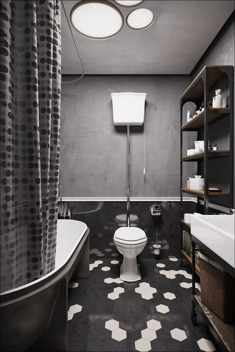 2875 dizayn interera 26 Дизайн концепция квартиры для редактора игрового журнала