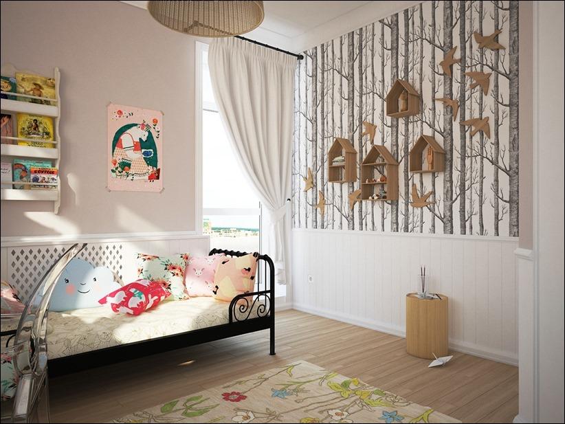 2882 dizayn interera 02 Красочные детские комнаты с игривым стилем