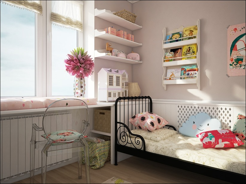 2882 dizayn interera 03 Красочные детские комнаты с игривым стилем