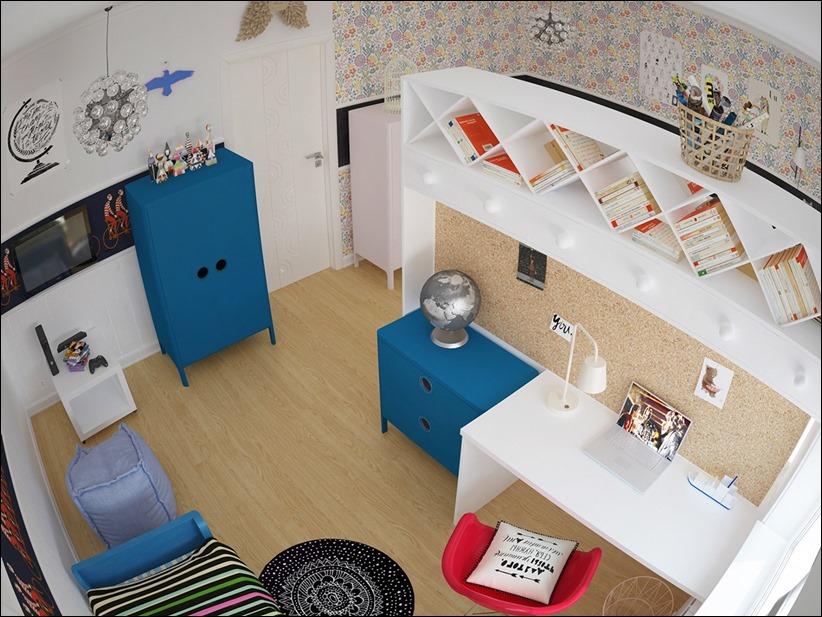 2882 dizayn interera 05 Красочные детские комнаты с игривым стилем