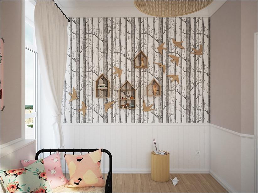 2882 dizayn interera 08 Красочные детские комнаты с игривым стилем