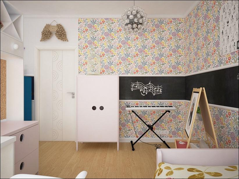 2882 dizayn interera 10 Красочные детские комнаты с игривым стилем