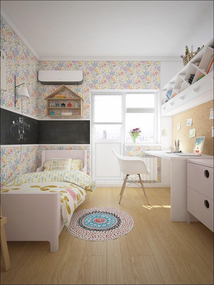 2882 dizayn interera 11 Красочные детские комнаты с игривым стилем