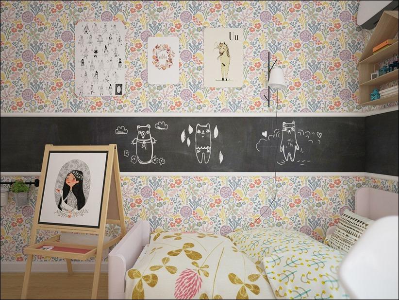 2882 dizayn interera 15 Красочные детские комнаты с игривым стилем