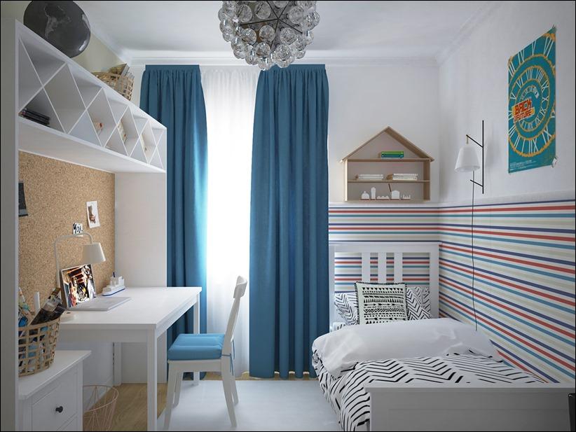 2882 dizayn interera 19 Красочные детские комнаты с игривым стилем