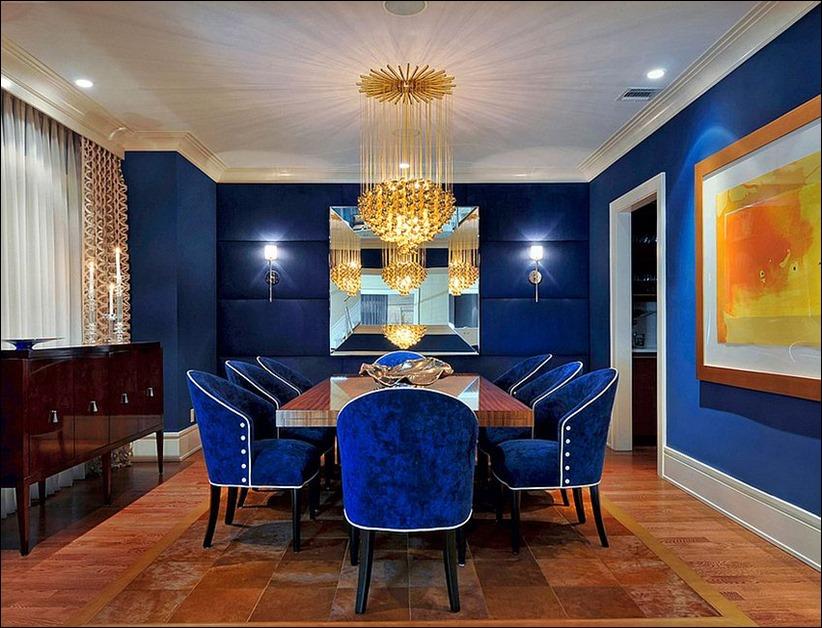 2902 dizayn interera 01 1 Как использовать разнообразные оттенки синего в столовой