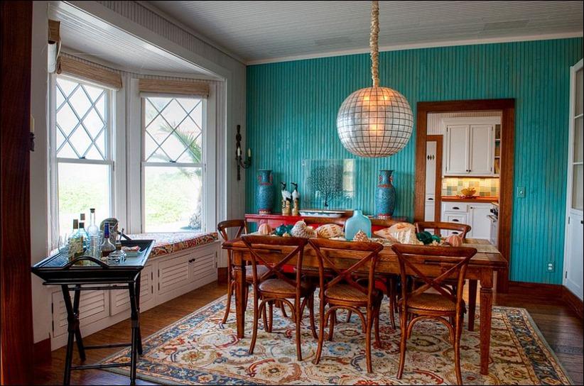 2902 dizayn interera 03 Как использовать разнообразные оттенки синего в столовой