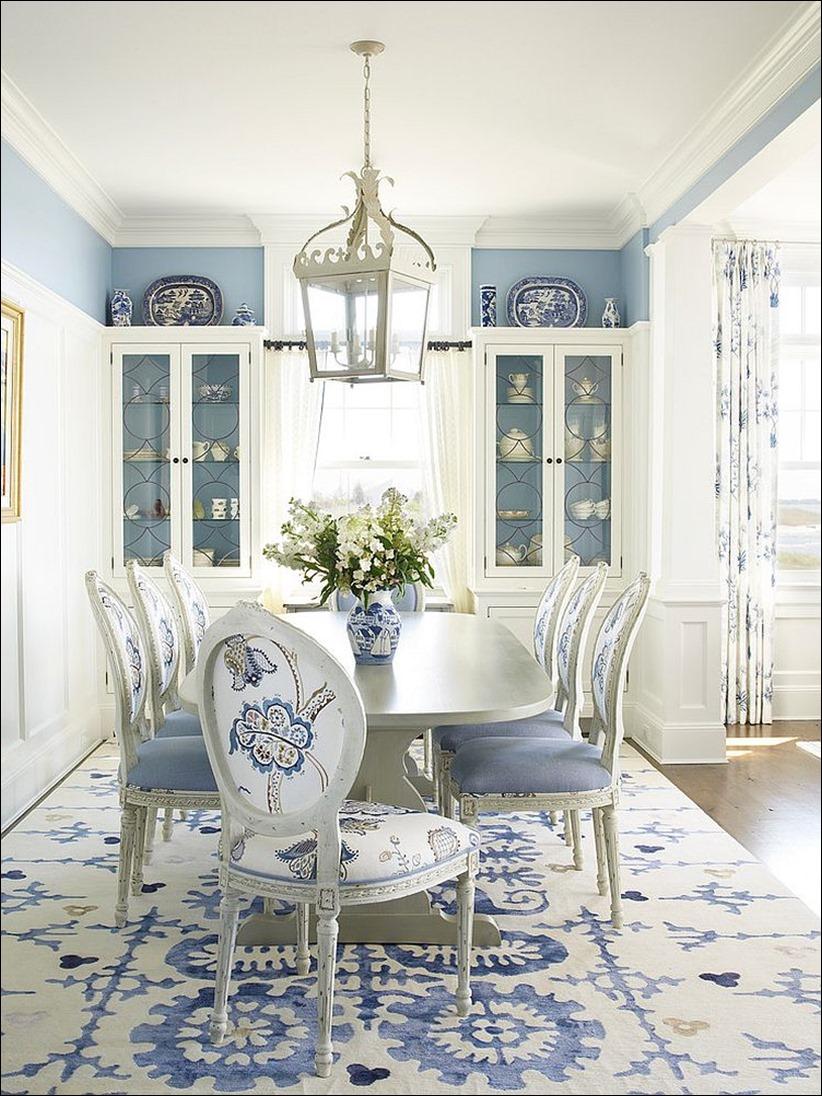 2902 dizayn interera 09 Как использовать разнообразные оттенки синего в столовой