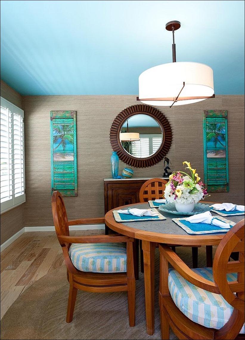 2902 dizayn interera 11 Как использовать разнообразные оттенки синего в столовой