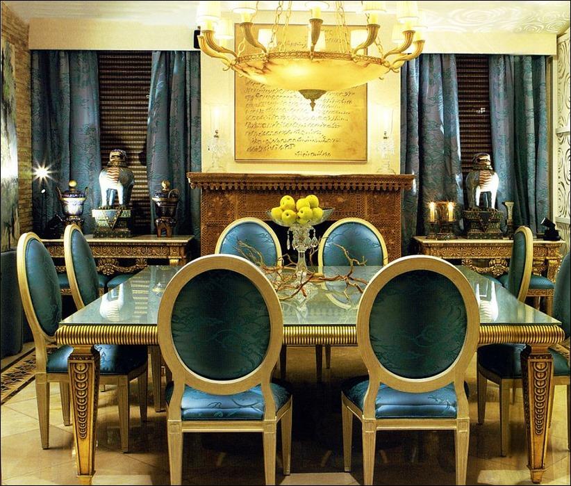 2902 dizayn interera 12 Как использовать разнообразные оттенки синего в столовой